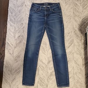 Silver Aiko High Skinny Joga Jeans Size 26